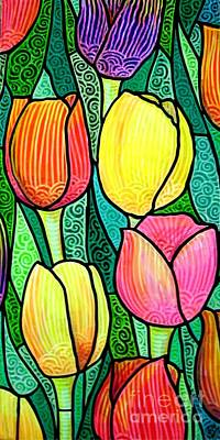 Poster featuring the painting Tulip Expo by Jim Harris