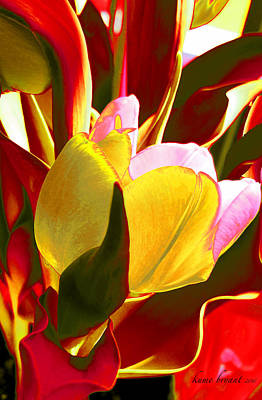 Tulip Kisses Abstract 4 Poster by Kume Bryant