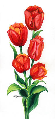 Poster featuring the painting Tulip Time by Barbara Jewell