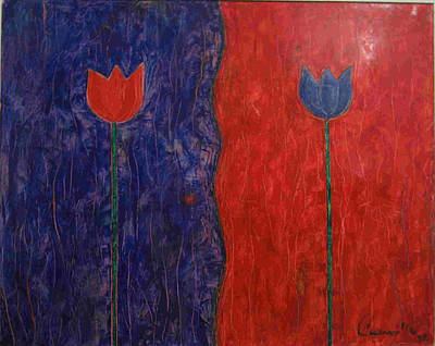 Poster featuring the painting Tulip by Walter Casaravilla