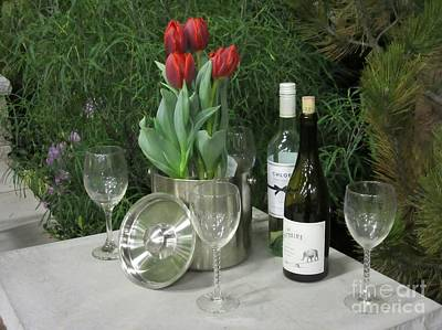 Tulips And Wine  Poster