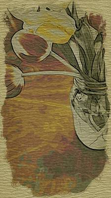 Tulips Bouquet Poster by Bonnie Bruno