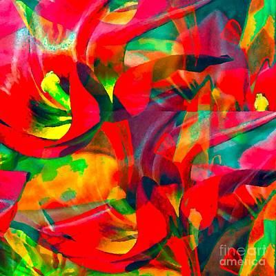 Poster featuring the digital art Tulips IIi by Loko Suederdiek
