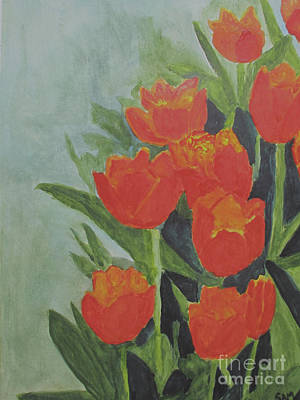 Poster featuring the painting Tulips by Sandy McIntire