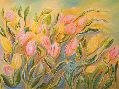 Tulips Poster by Theresa Marie Johnson