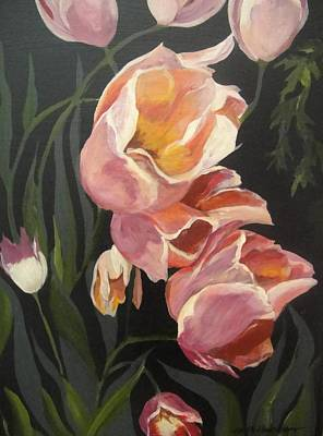 Tulips Tumbling Poster