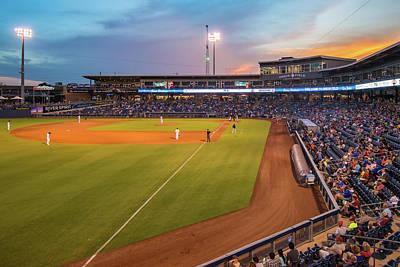 Tulsa Drillers Stadium Sunset - Oneok Stadium Tulsa Oklahoma Poster