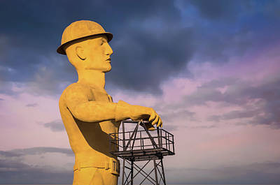 Poster featuring the photograph Tulsa's Golden Driller Up Close - Tulsa Oklahoma Art by Gregory Ballos