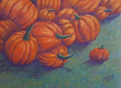 Tumbled Pumpkins Poster by Joann Renner