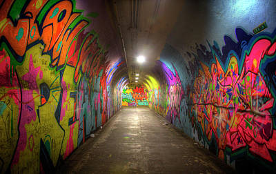 Tunnel Of Graffiti Poster by Mark Andrew Thomas