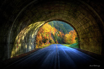 Tunnel Vision Blue Ridge Parkway Art Poster