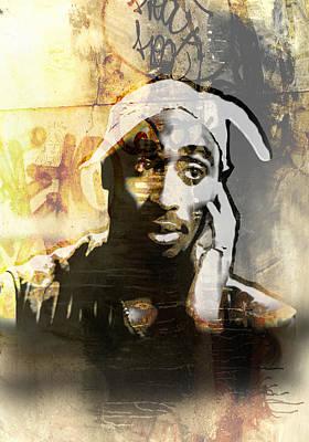 Tupac Graffitti 19 Poster by Jani Heinonen