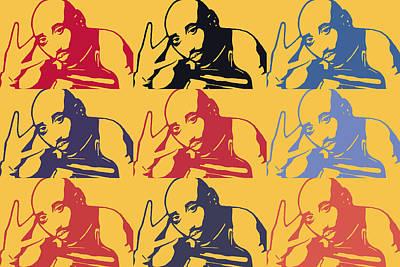 Tupac Shakur Graffiti In Andy Warhol Style Poster