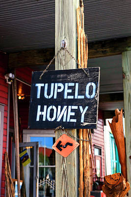 Tupelo Honey Sign Poster by Chris Smith