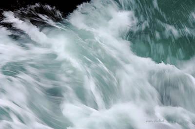 Turbulent Seas Poster by Donna Blackhall