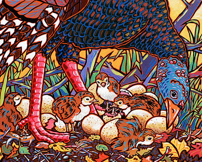 Turkeys Poster by Nadi Spencer