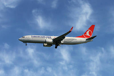 Turkish Airlines Boeing 737-8f2 Poster