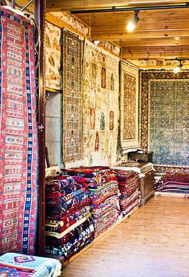 Turkish Carpet Store Poster by Tom Gowanlock