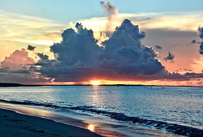 Turks And Caicos Grace Bay Beach Sunset Poster by Amy McDaniel