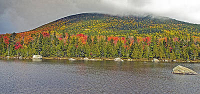 Turner Mountain From Sandy Stream Pond During Fall In Baxter State Park Maine Poster