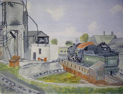 Turntable Roundhouse Poster by Carole Robins