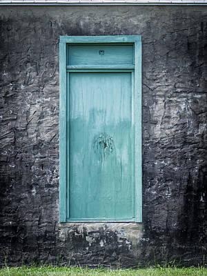 Turquoise Door Poster