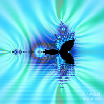 Turquoise Lake Fractal Poster