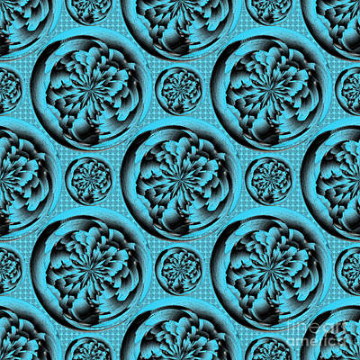 Turquoise Pattern Poster