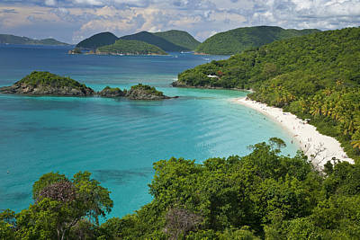 Turquoise Water At Trunk Bay, St. John Poster by Michael Melford