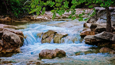 Turquoise Waters- Barton Creek, Austin, Texas Poster