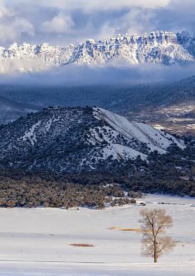 Turret Ridge In Winter Poster