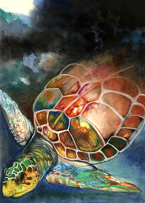 Turtle Poster by Anthony Burks Sr