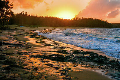 Turtle Bay Sunset 2 Poster