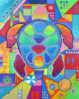 Turtle Turtle Poster by Jeremy Aiyadurai