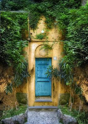 Tuscan Blue Door Poster