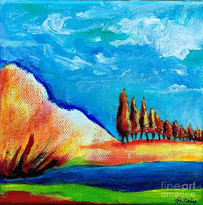 Tuscan Cypress Poster