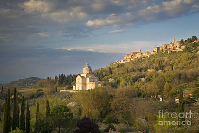 Tuscan Evening Over Montepulciano Poster by Brian Jannsen