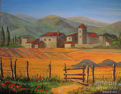 Tuscan Farm Poster by Italian Art
