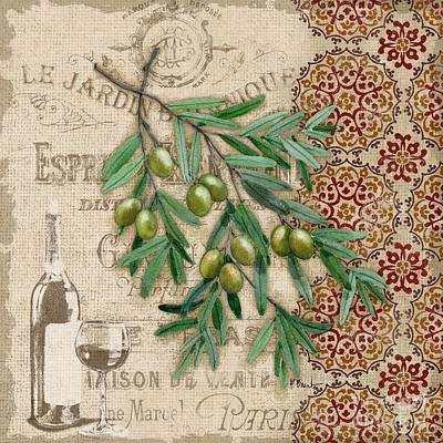 Tuscan Green Olives Poster by Paul Brent