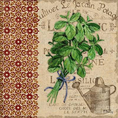 Tuscan Herbs I Poster by Paul Brent