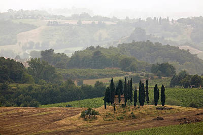 Poster featuring the photograph Tuscan Landscape by Stefan Nielsen