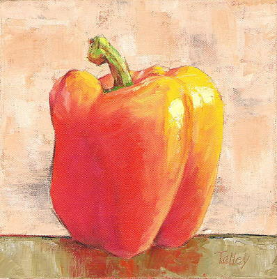 Poster featuring the painting Tuscan Orange Pepper by Pam Talley