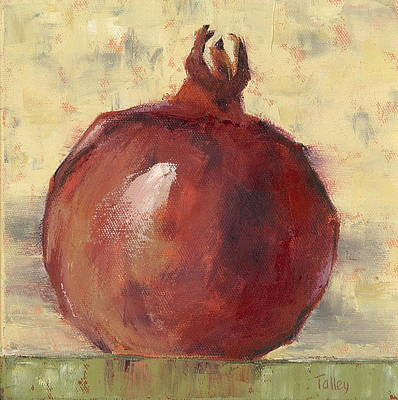 Poster featuring the painting Tuscan Pomegranate by Pam Talley