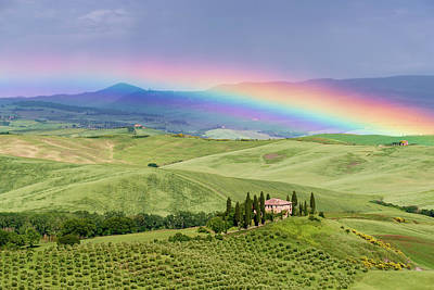 Tuscan Rainbow Poster by Michael Blanchette