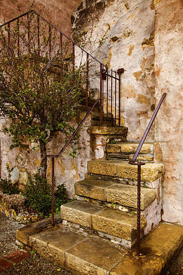 Tuscan Staircase Poster by Lynn Bauer