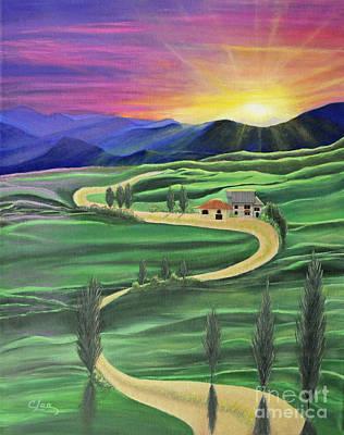 Tuscan Sunset Poster