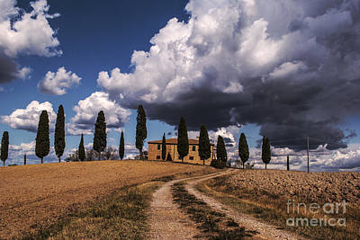 Poster featuring the photograph Tuscan Villa by Yuri Santin