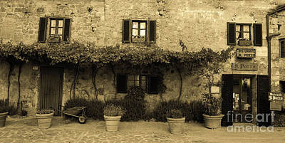 Poster featuring the photograph Tuscan Village by Frank Stallone