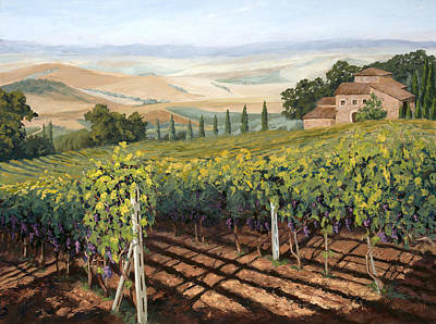 Tuscan Vines Poster by Mary Giacomini