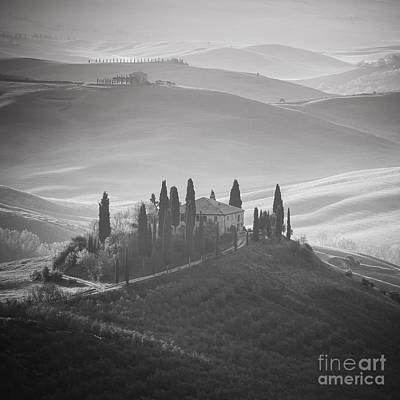 Tuscany Bw Poster